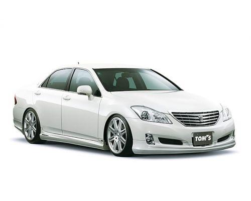 Передняя губа TOMS на Toyota Crown Royal Saloon (grs200, дорестайл)
